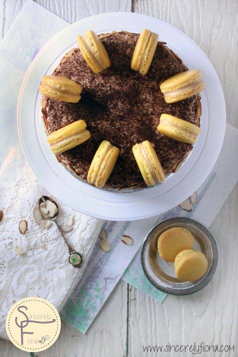 Surprise of Macaron Tiramisu cake