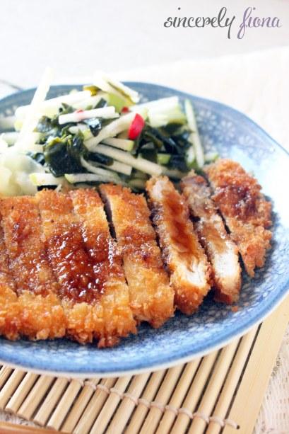 pork tonkatsu apple salad 01
