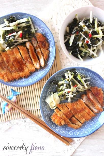 pork tonkatsu apple salad 02