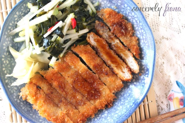 pork tonkatsu apple salad 05