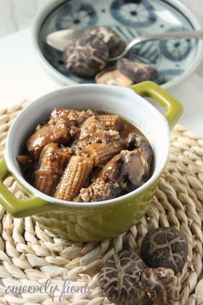 braised fried tofu mushroom 03