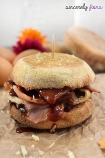 homemade bacon & egg muffin