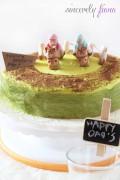 jockey greentea checkerboard cake 04