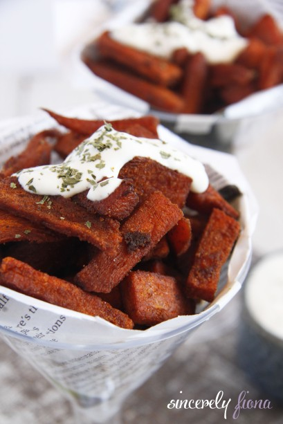 Sweet Potato Wedges with Blue cheese dip | Sincerely Fiona | Lovin ...