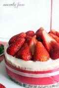 strawberry and cream layered cake