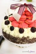 christmas macaron black forest cake