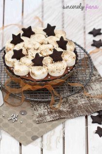 Mocha Cheesecake Tart with Toasted Marshmallows